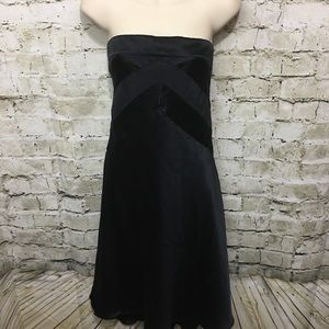 Banana Republic Black Silk Strapless Dress
